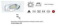 foco MIRIAM  Basculante orientable cuadrado con lámpara incluida a 230 V