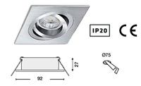 foco NOA Basculante orientable para instalación 12 V. o 230 V